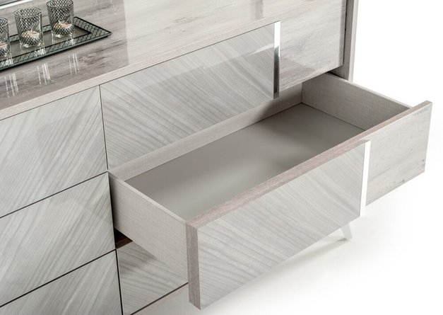 Nova Domus Alexa Italian Modern Dresser Gray
