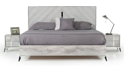 Nova Domus Alexa Italian Modern Queen Bed Gray
