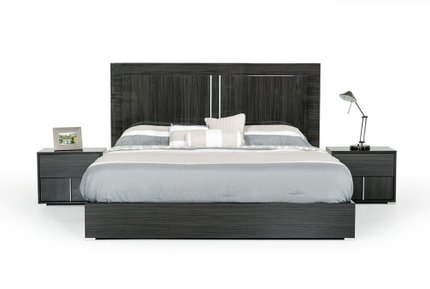 Ari Italian Modern Queen Bed Gray