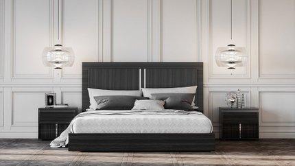 Ari Italian Modern Queen Bed Gray