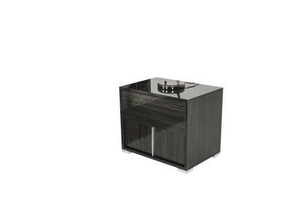 Italian Modern Nightstand Gray