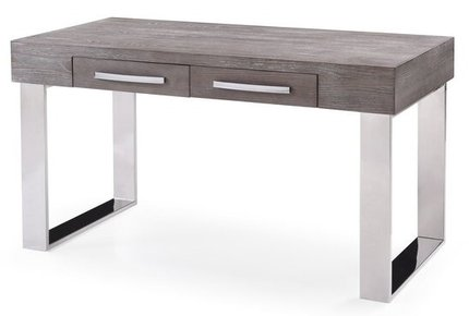 Lola Modern Gray Elm Desk