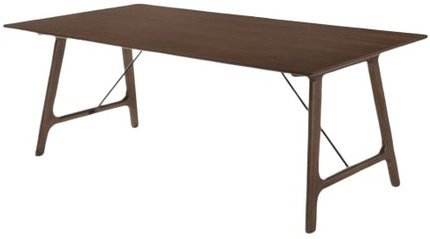 Modrest Oritz Mid-Century Dining Table Walnut