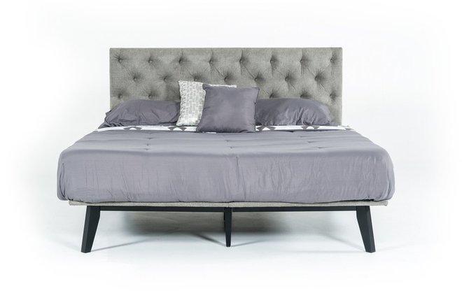 Gibson Modern Queen Bed Gray