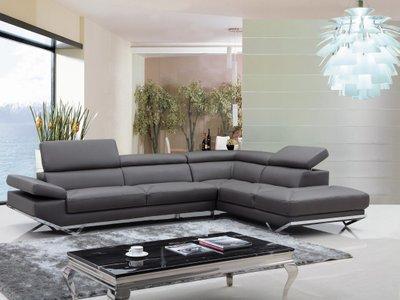 Divani Casa Quebec Sectional Sofa Dark Gray