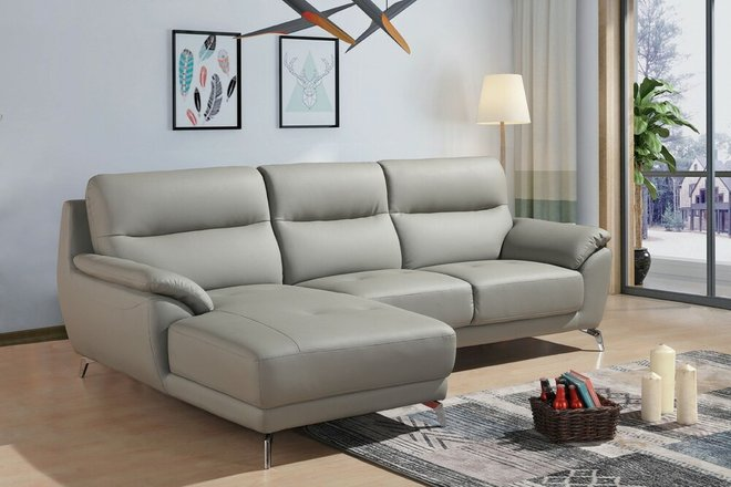 Fortson Modern Sectional Sofa Gray