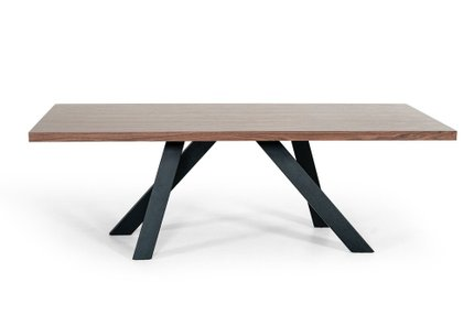 Modrest Vanguard Dining Table Walnut And Black