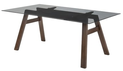 Modrest Travis Modern Dining Table Gray And Walnut