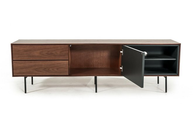 Kenny TV Stand Walnut & Gray