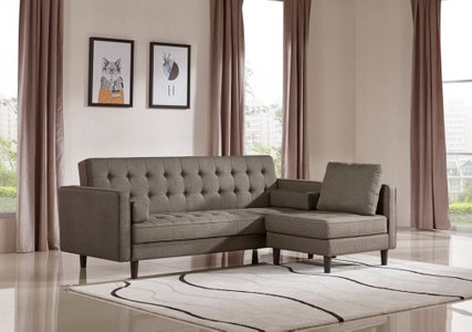 Divani Casa Kestin Modern Sofa Bed & Chair Set Brown