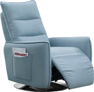 Divani Casa Fairfax Modern Recliner Chair Blue