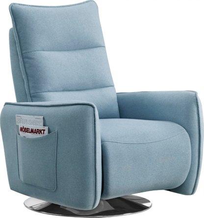 Divani Casa Fairfax Modern Recliner Chair Blue