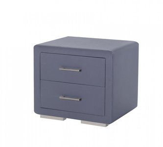 Burbank Modern Grey Leatherette Nightstand