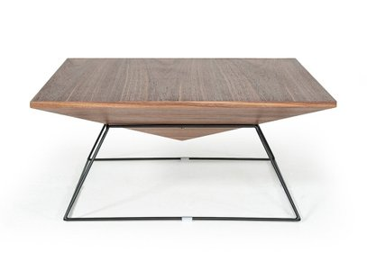 Modrest Gabriel Square Coffee Table Walnut