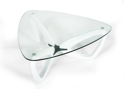 Medina Contemporary Coffee Table Glass White