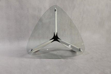 Medina Contemporary Coffee Table Glass White