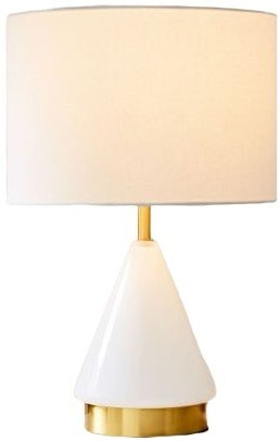 West Elm Metalized Glass Table Lamp Blush
