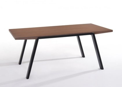 Modrest Quinn Dining Table Walnut And Black
