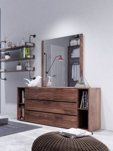 Nova Domus Jagger Dresser And Mirror Set Walnut
