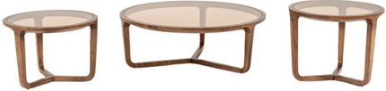 Jordi 3-Piece Coffee Table Set Walnut