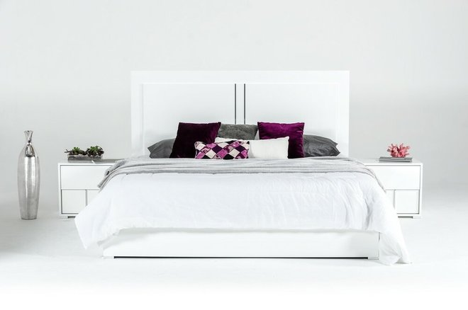 Nicla Italian Modern Full Bed White