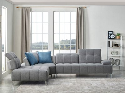 Divani Casa Nash Left Sectional Sofa Gray
