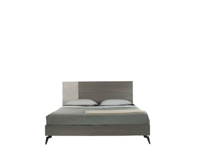 Palermo Italian Modern Faux Concrete & Gray Queen Bed