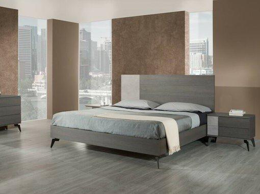 Palermo Italian Modern Nightstand Gray