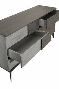 Nova Domus Italian Modern Faux Concrete & Gray Dresser