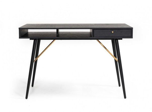 Modrest Billy Modern Desk Black Oak & Gold