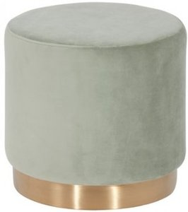 Modrest Santee Modern Velvet Stool Gray And Gold