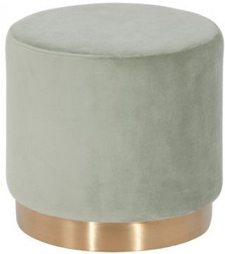 Modrest Santee Modern Velvet Stool Gray And Gold