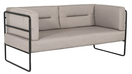 Modrest Norman Modern Loveseat Sofa Gray