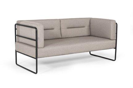 Modrest Norman Modern Loveseat Sofa Gray