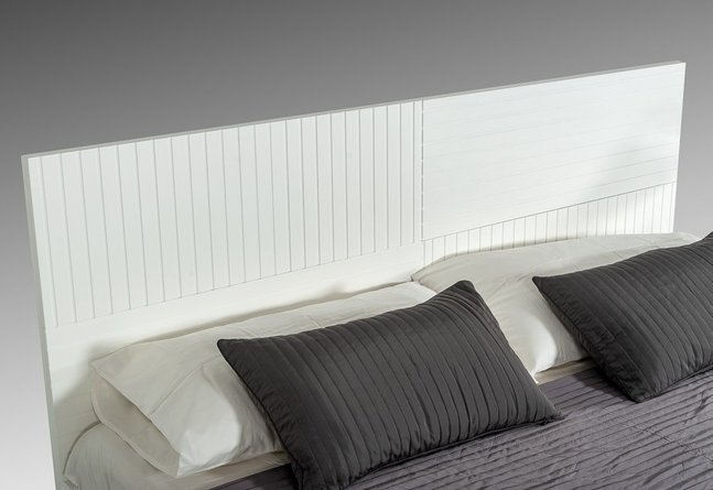 Valencia Contemporary Queen Bed White