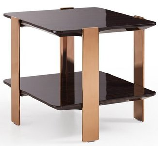 Modrest Leroy End Table Ebony And Rosegold