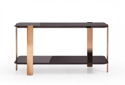 Modrest Leroy Console Table Ebony And Rose Gold