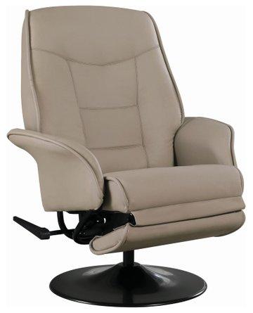 Berri Contemporary Swivel Recliner Chair Beige
