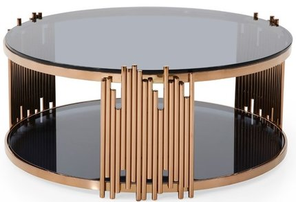 Bryce Round Coffee Table Rosegold