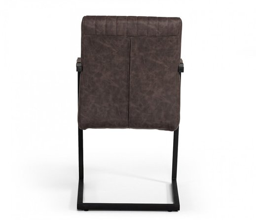 Modrest Marta Leatherette Dining Chair Brown (Set of 2)
