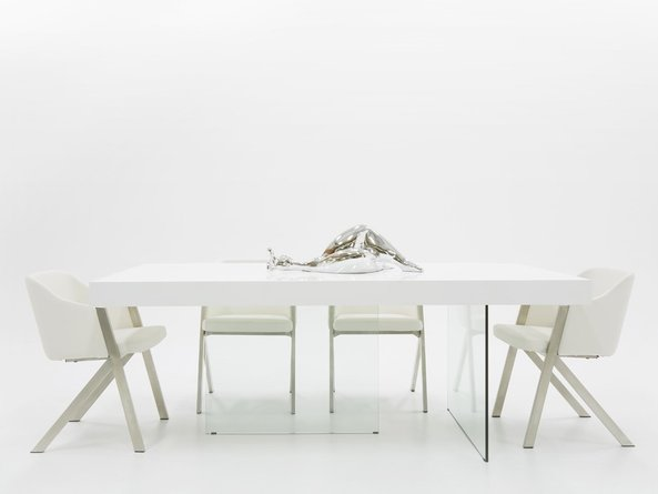 Modrest Encino Dining Table White