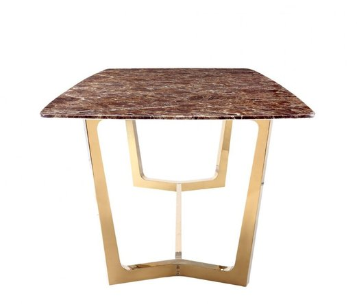Rent In San Francisco Bay Area: Rent Modrest Garrett Faux Marble Dining Table Brown And