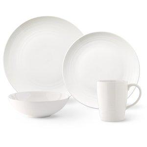 Vista 16-Piece Dinnerware Set White
