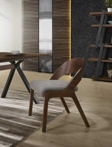 Modrest Runyon Dining Chair Walnut & Gray (Set of 2)