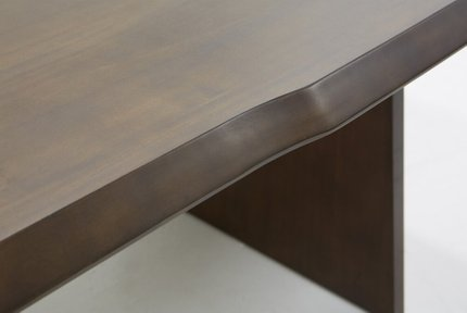 Modrest Selena Modern Dining Table Acacia & Brass