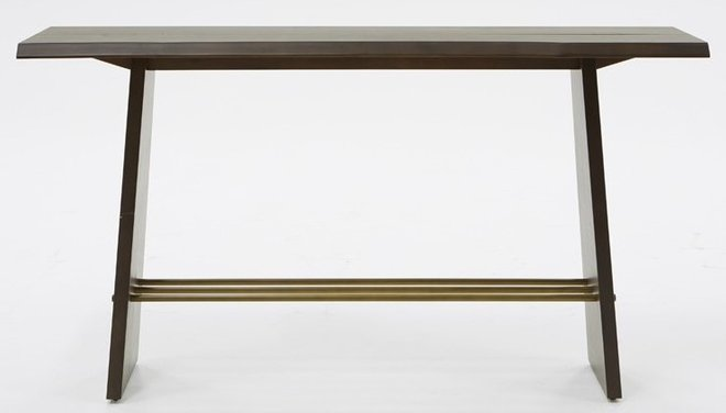 Modrest Selena Modern Console Table Brass