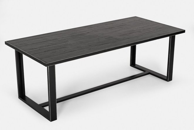 Modrest Hardy Modern Dining Table Black Acacia