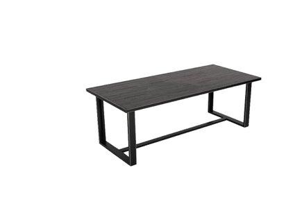 Modrest Hardy Modern Dining Table Black Acacia