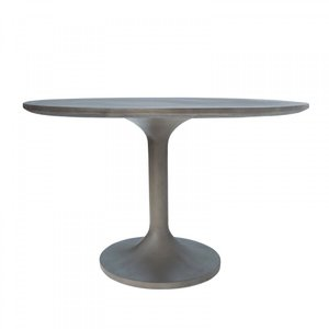 Modrest Wagner Concrete Round Dining Table Gray