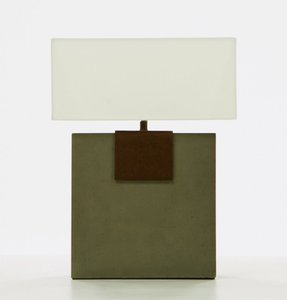 Modrest Santos Modern Concrete Table Lamp White